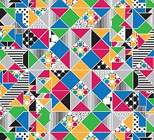 Colorful Geometric Pattern by Jeri Stunkard
