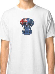 Cute Patriotic Australian Flag Puppy Dog Classic T-Shirt