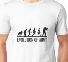 Evolution of army, Funny Human Evolve Unisex T-Shirt