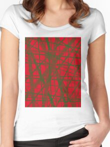 Red an green design by Moma Women's Fitted Scoop T-Shirt