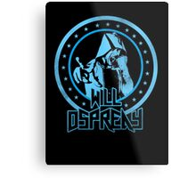 Will Osprey - Blue Metal Print