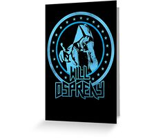 Will Osprey - Blue Greeting Card