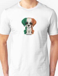 Cute Patriotic Irish Flag Puppy Dog Unisex T-Shirt