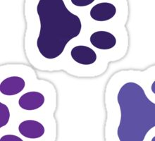 Purple Dog Paw Prints Sticker