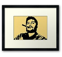 Vintage Man Smoking A Cigar Framed Print