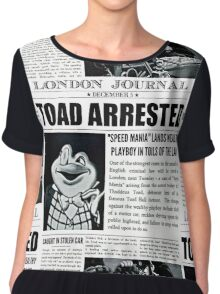 Toad Arrested Newspaper Chiffon Top