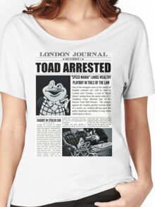 Toad Arrested Newspaper Women's Relaxed Fit T-Shirt