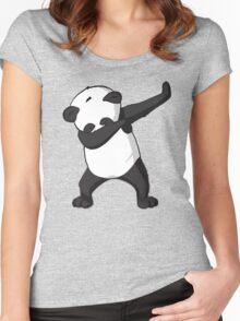 -DAB- Panda DAB Women's Fitted Scoop T-Shirt
