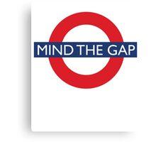 Mind The Gap - British - London Underground Design Canvas Print