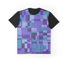Abstract geometric design in cool hues Graphic T-Shirt