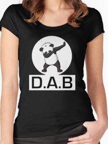 -DAB- Panda DAB Women's Fitted Scoop T-Shirt