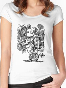 Combination Gizmo Machine Women's Fitted Scoop T-Shirt
