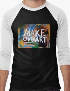 Make Bad Art Men's Baseball ¾ T-Shirt