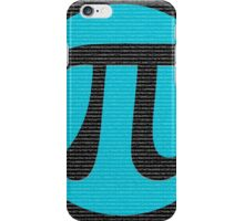 First 10,000 digits of Pi, blue on black. iPhone Case/Skin