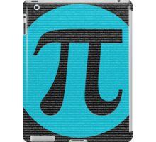 First 10,000 digits of Pi, blue on black. iPad Case/Skin
