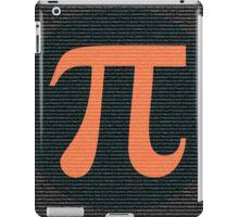 First 10,000 digits of Pi, blue and orange. iPad Case/Skin
