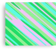 Pink Green and Turquoise stripe abstract Canvas Print