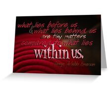 What Lies Within Us © Vicki Ferrari Photography Greeting Card