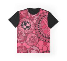 Pink and red Zen Doodle illustration. Graphic T-Shirt