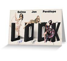 Three movie beauties Greeting Card