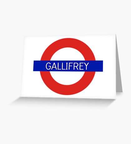 Gallifrey Station- Doctor Who Greeting Card
