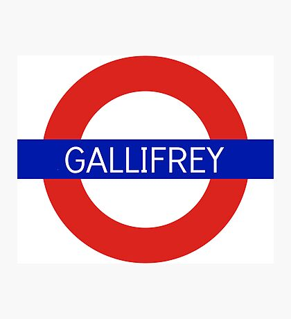 Gallifrey Station- Doctor Who Photographic Print