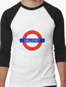 Gallifrey Station- Doctor Who Men's Baseball ¾ T-Shirt
