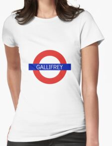Gallifrey Station- Doctor Who Womens Fitted T-Shirt