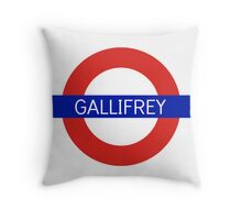 Gallifrey Station- Doctor Who Throw Pillow