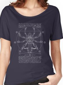Vitruvian Omnic - white version Women's Relaxed Fit T-Shirt