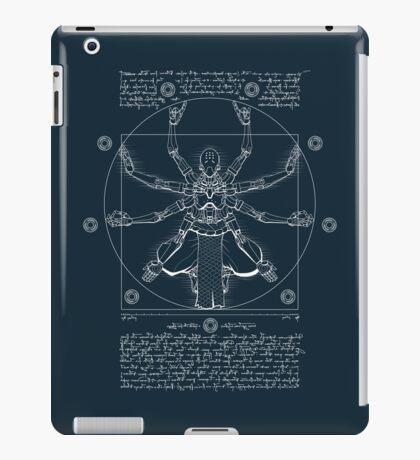 Vitruvian Omnic - white version iPad Case/Skin