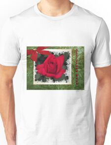 Christmas Rose Unisex T-Shirt