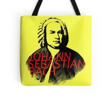 Johann Sebastian Bach vibrant portrait and text Tote Bag