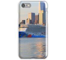 The Cruise Ship Norwegian Breakaway On The Hudson River iPhone Case/Skin