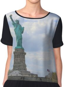 Lady Liberty and Our Flag Chiffon Top