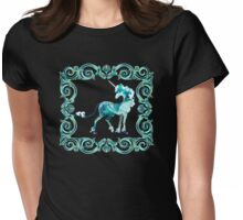 Unicorn Framed Womens Fitted T-Shirt