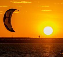 Sunset Kite Surfer Sticker
