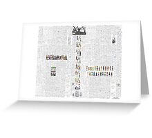 Mystic Suburb Comic Montage Greeting Card