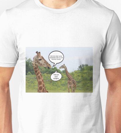 Giraffes Having a Chat Unisex T-Shirt
