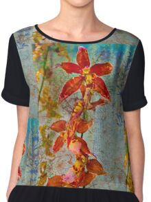Orchid Vintage Montage Chiffon Top