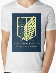 Attack on Titan Scouting Legion Mens V-Neck T-Shirt