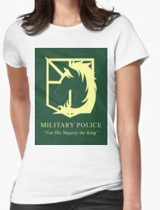 Attack on Titan Military Police Womens Fitted T-Shirt