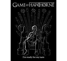 Game of Hawthorne Photographic Print
