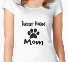 Basset Hound Mom Women's Fitted Scoop T-Shirt