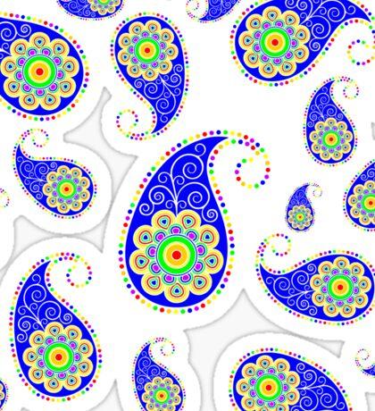 Colorful Rainbow Paisley Design Sticker