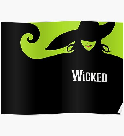 Wicked Cover With Elphaba (Wicked Merch) Poster
