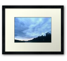 Alberta mountain clouds Framed Print