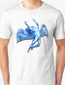 ICARUS THROWS THE HORNS - bright blue Unisex T-Shirt