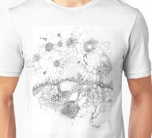 Bacteriophage ballet, ink drawing on paper by Regina Valluzzi Unisex T-Shirt