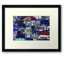 FIRE Puzzle Framed Print